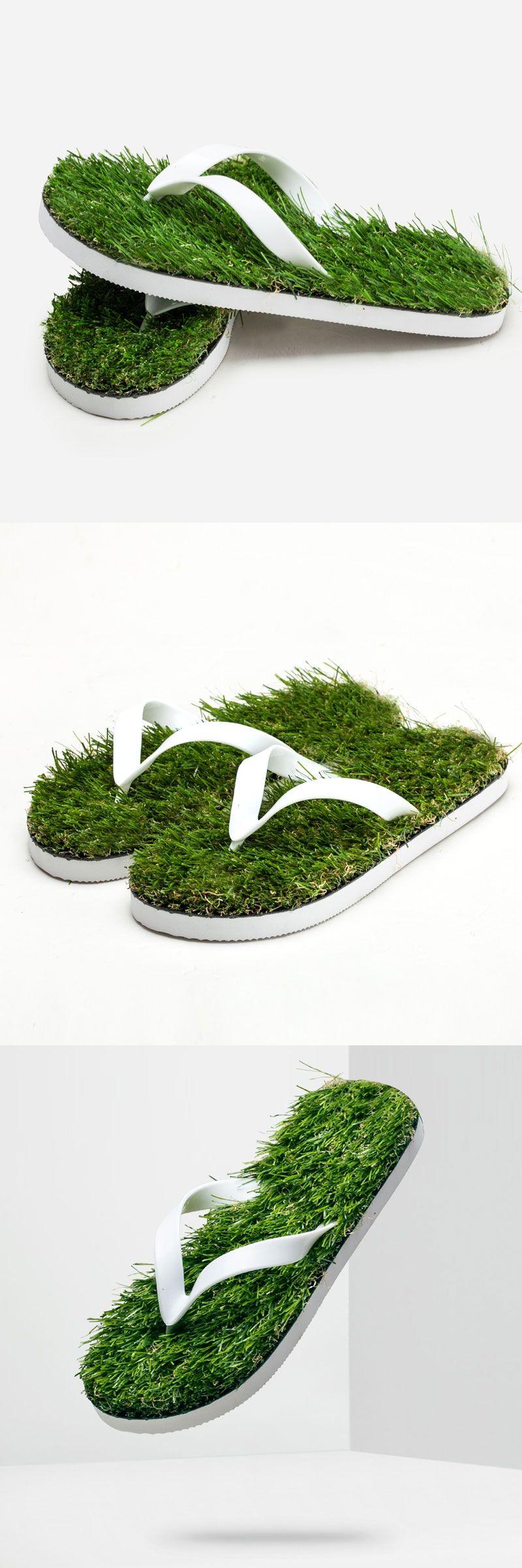b4992281411 2017 New Men Imitation Grass Flip Flops For Men Summer Beach Flip Flops  Flat Shoe Out Sandals Slipper Women Sandalias Mujer