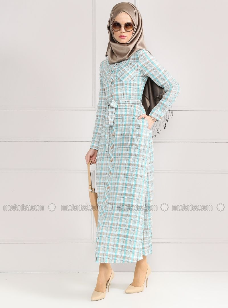 Shop Buttoned Dress - Green in Dresses category. Modanisa your online muslim modest fashion store. Thousands of items at discounted prices. Start shopping.