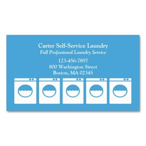 Laundry Service Business Card Zazzle Com Laundry Service