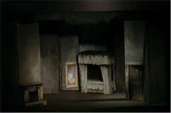 idea for scrooge's bedroom | scrooge | stage design, design, broadway