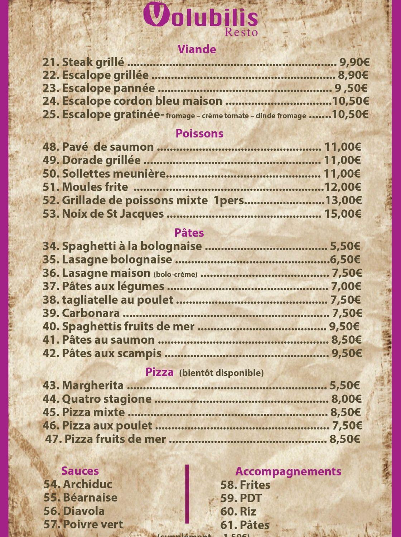 Menu Restaurant Halal bruxelles, www.volubilis-resto.be | Restaurant ...