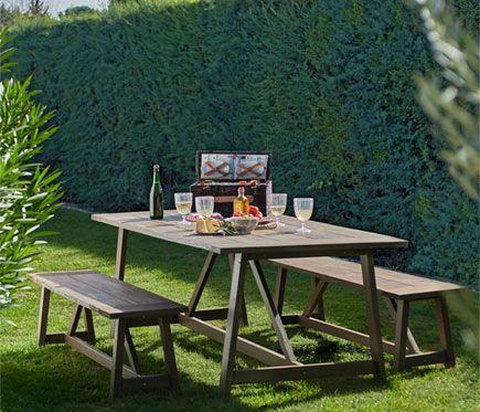 Conjunto madera de eucalipto RIVA - Leroy Merlin | Garden tables ...