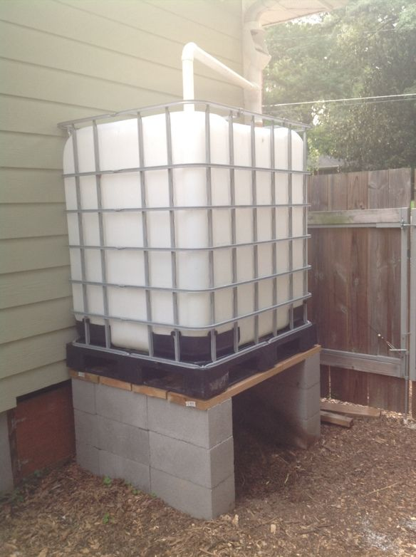 Rain Harvesting Setup Completed: 2,300 Gallon Capacity – Sun, Rain, Earth