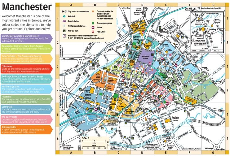 Manchester city center map Maps Pinterest City
