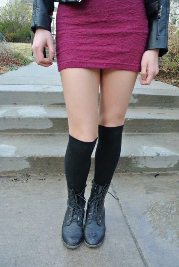 WHAT TO WEAR: Concert | Meagan French for @cfashionista  #kneehighs #boots #leather