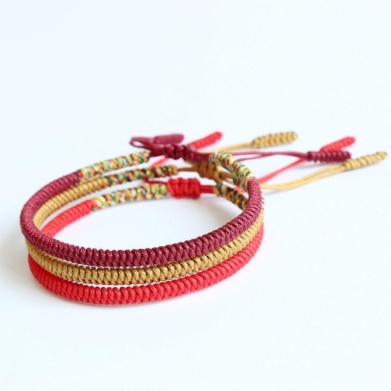 435ac43ee2  4.99 - Handmade Tibetan Buddhist Braided Bracelet Lucky Knot Rope Men  Women Multi Color  ebay