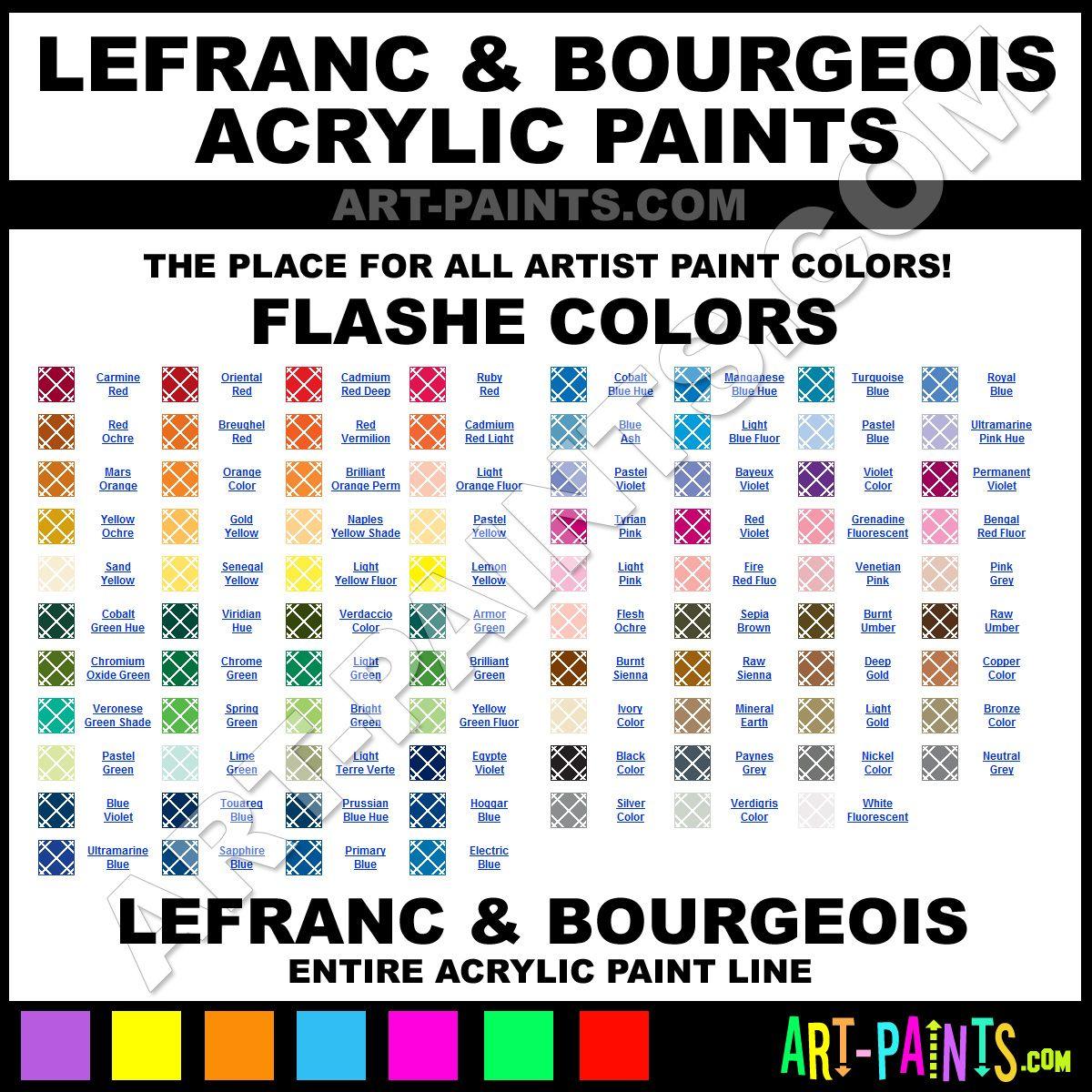 Folk art color chart acrylic paint - Bildergebnis F R Lefranc Bourgeois Flashe Color Chartscolours