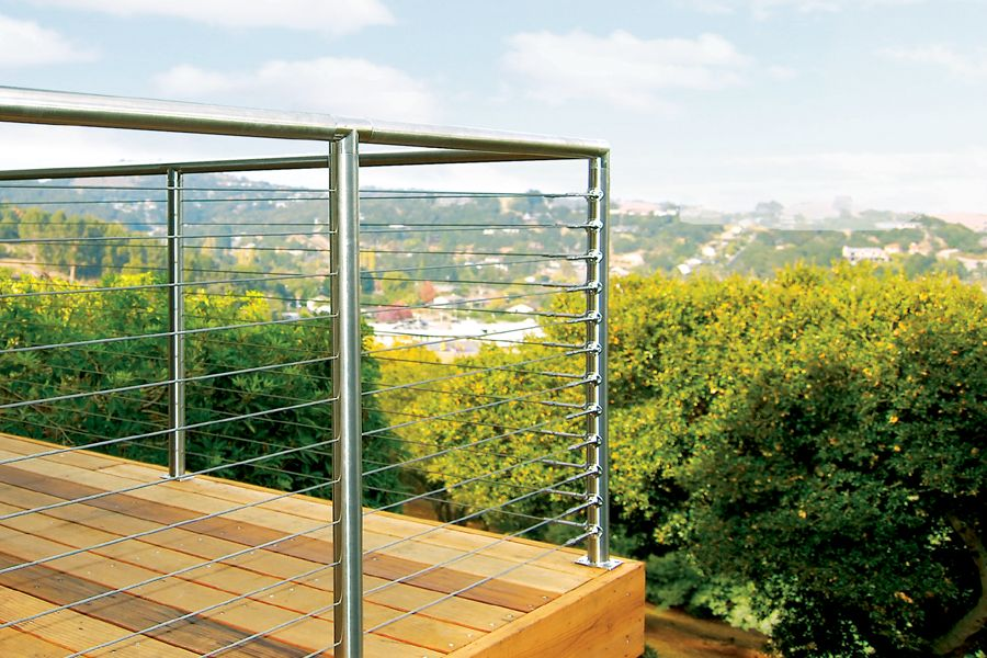Deck Railing Photo Gallery   Cable Rail With Stainless Frame · Cable Railing  SystemsWood ...