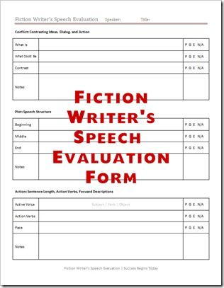 fiction writers speech form printables fiction writers speech form