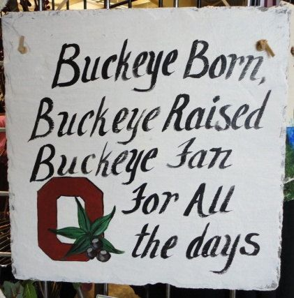 Ohio State buckeyes Sign Fathers day Buckeye born by kpdreams ...