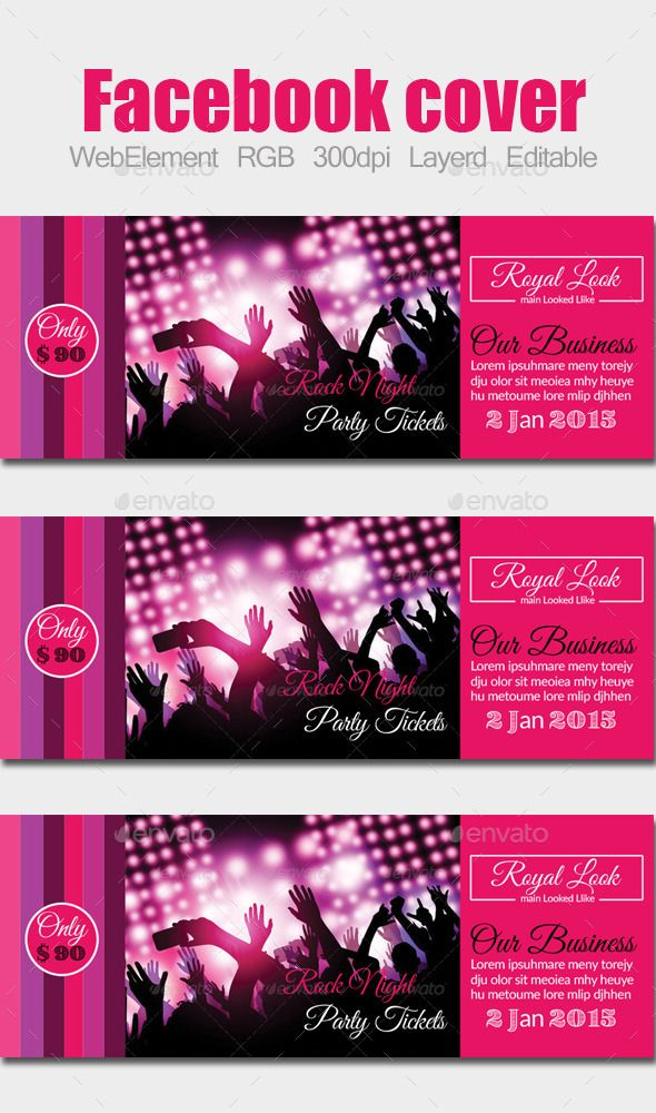 Party / Concert Facebook Cover Font logo, Facebook timeline and Fonts