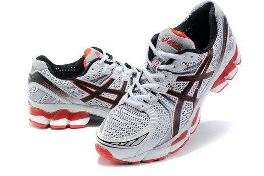 the best attitude 77d49 72791 Men Asics GEL KAYANO 17 Shoes White Black Red