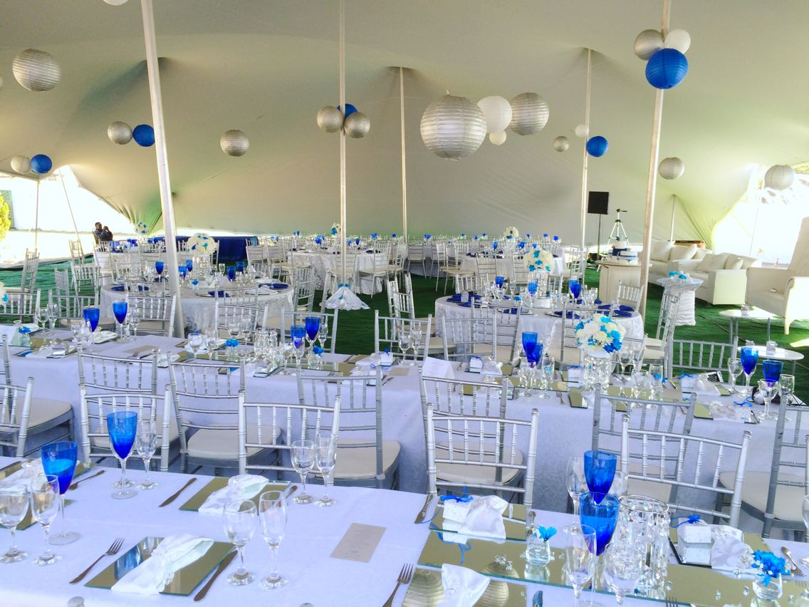 Royal Blue White And Silver Decor By Shonga Events African