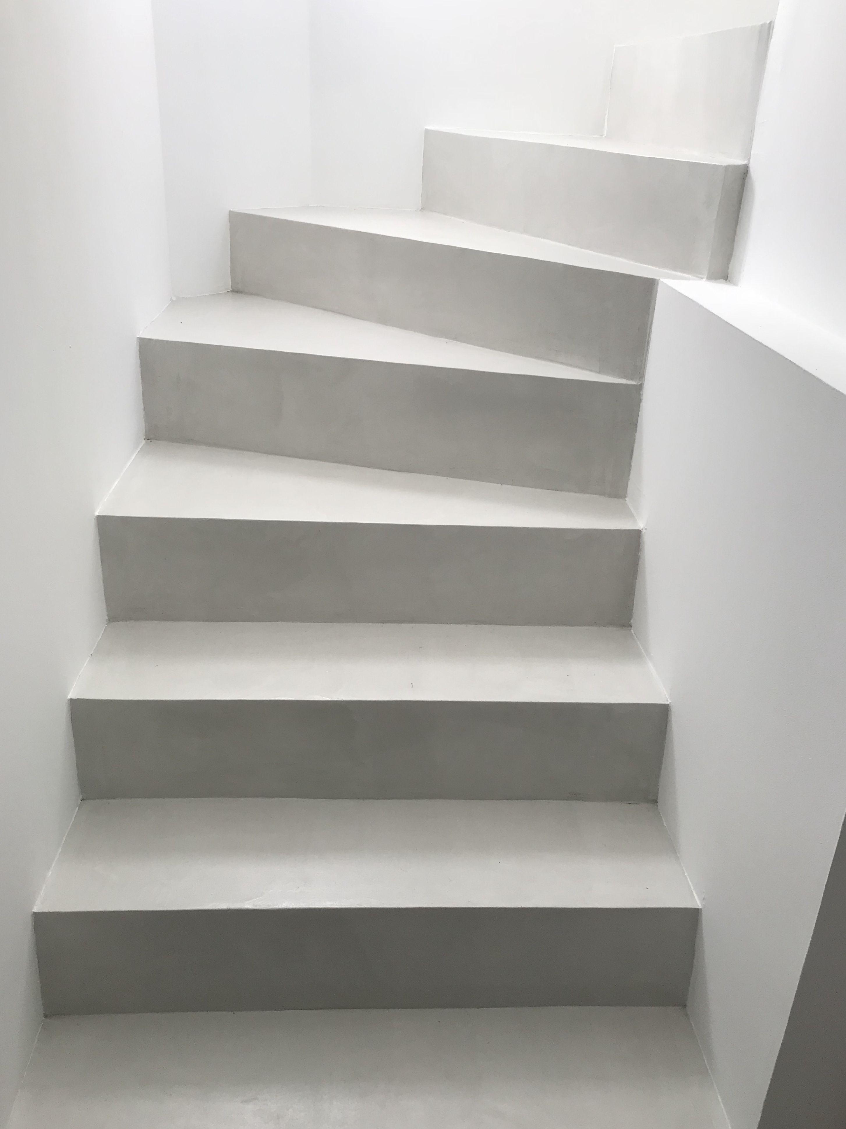 B Cc Escalier En Beton Cire Couleur Voile Ma S Avec Images