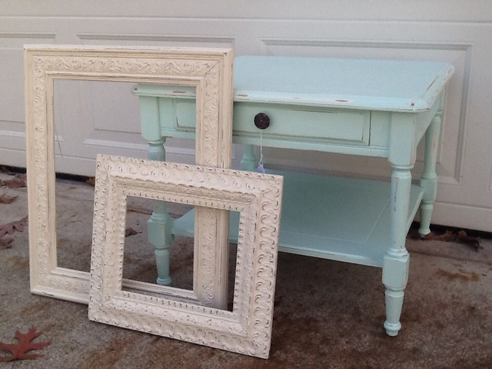 Teal table. Sold frames sold