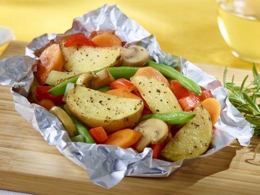 Papillote de légumes et saumon grillé   Arctic Gardens