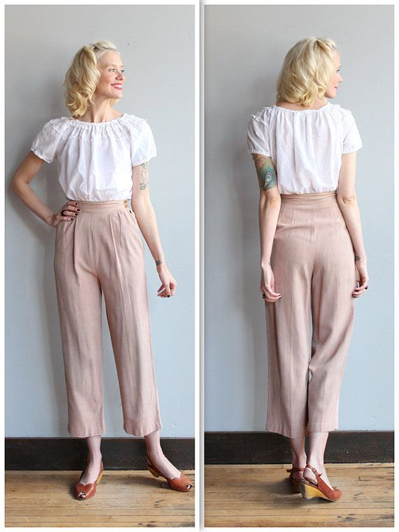 1930s Pants Lightweight Summer Pants Vintage 30s Pants Sewing