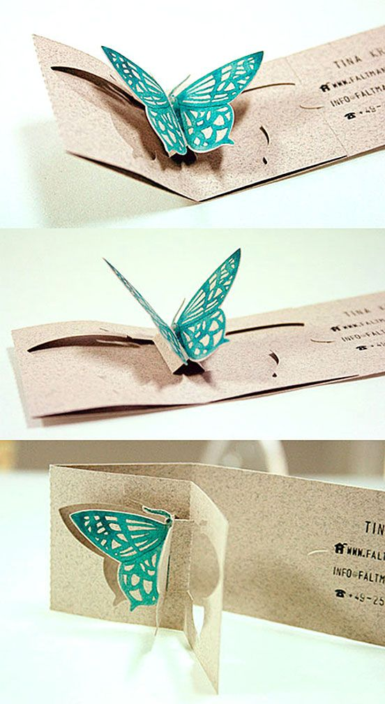 Gorgeous Pop Up Butterfly Business Card | Business Cards | The ...