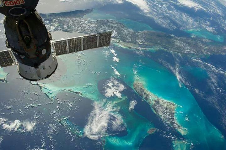 Cuba & The Bahamas taken from space by Nasa