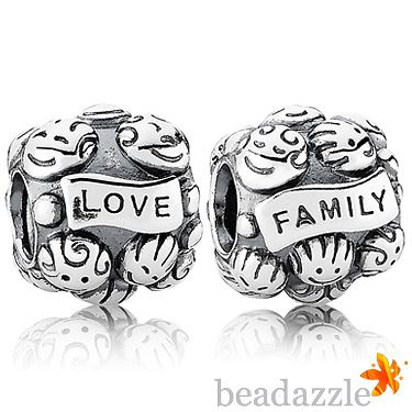 pandora charm love and family