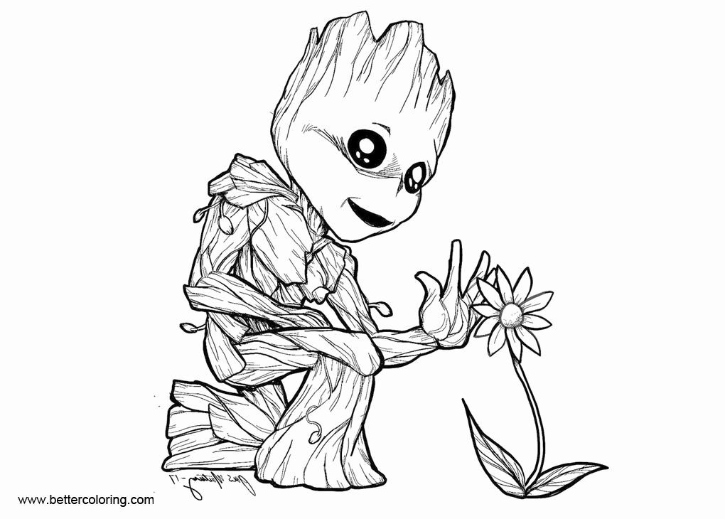 24 Baby Groot Coloring Page Coloring Pages Dragon Coloring