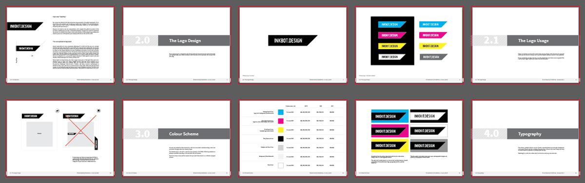 free brand guidelines template logo presentation pdf