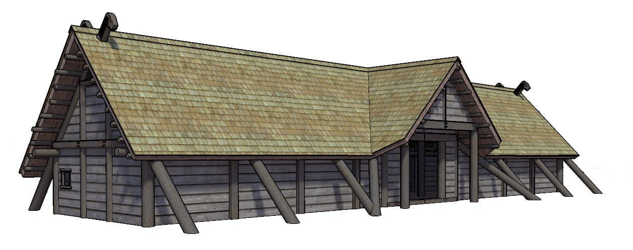 Viking House Based On Longhouse And Other 10th Century Houses Everything Does Nt Really Suit Historical Reference I Used Viking House Vikings Pole Barn Homes