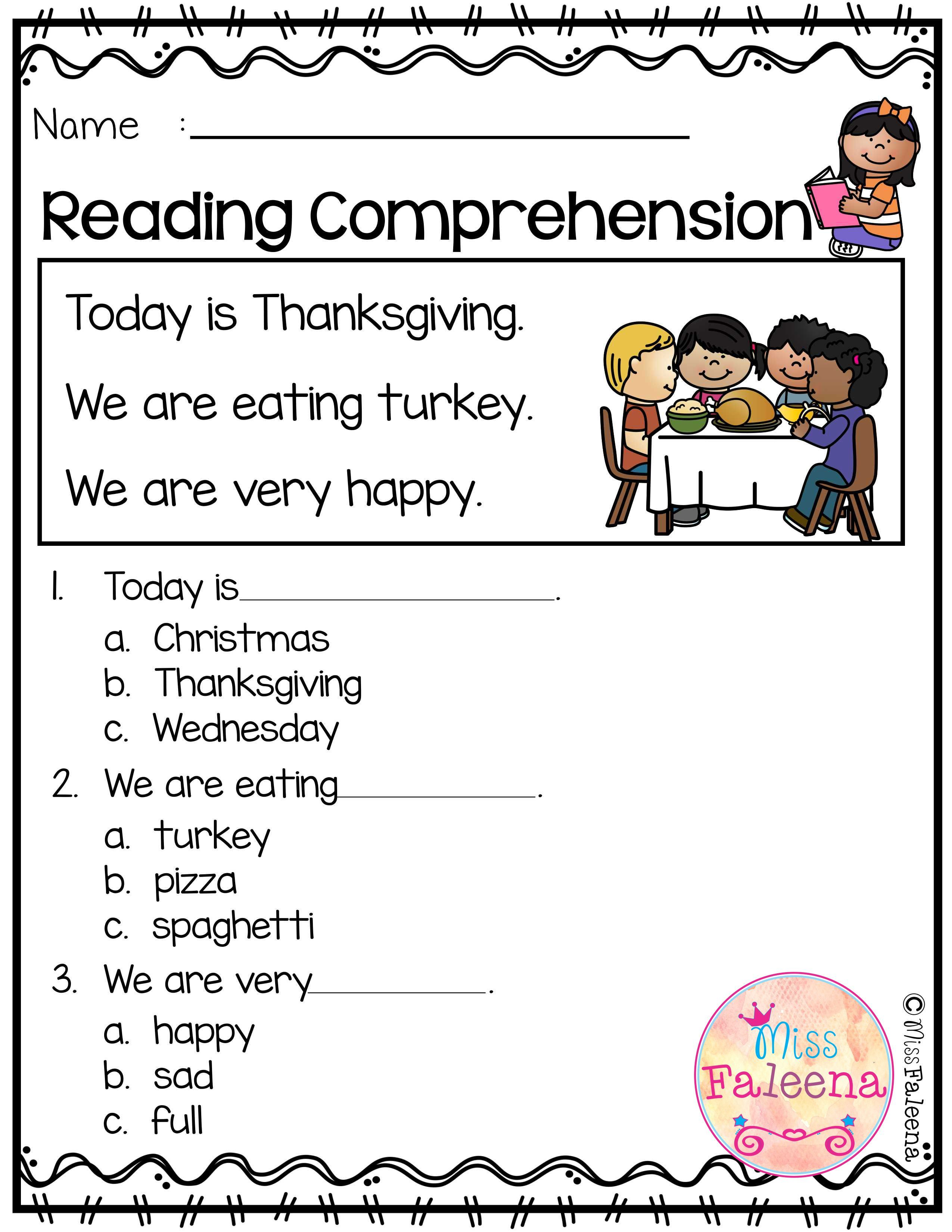 November Reading Comprehension Is Suitable For Kindergarten Students Or Begi Reading Comprehension Kindergarten Classroom Management Kindergarten Lesson Plans [ 3300 x 2550 Pixel ]