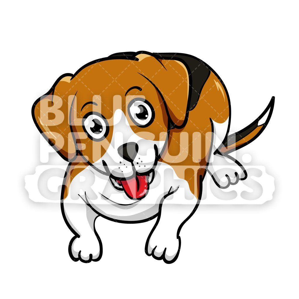 Beagle Laying On Floor Vector Cartoon Clipart Dog Artwork Dog