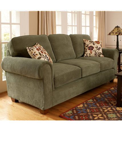 Tufted Sofa Ultralight Comfort Sofa Sofas at L L Bean oversized delivery charge Available