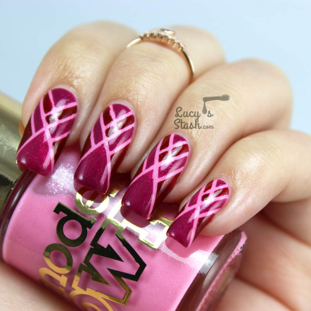 Art Deco Tape Nail Art feat. Models Own Diamond Luxe Collection ...