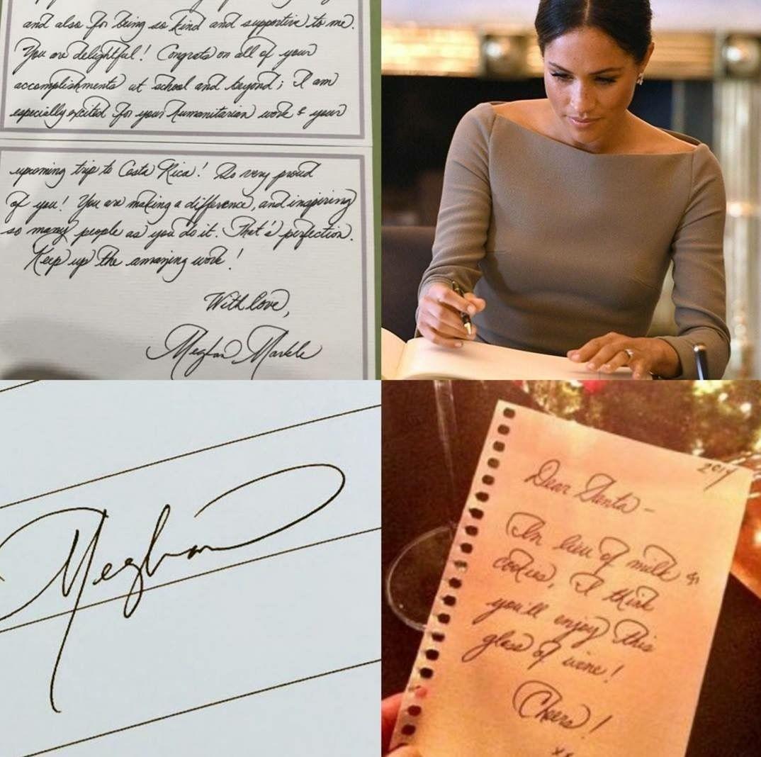 Meghan Markle's Handwriting Beautiful Calligraphy