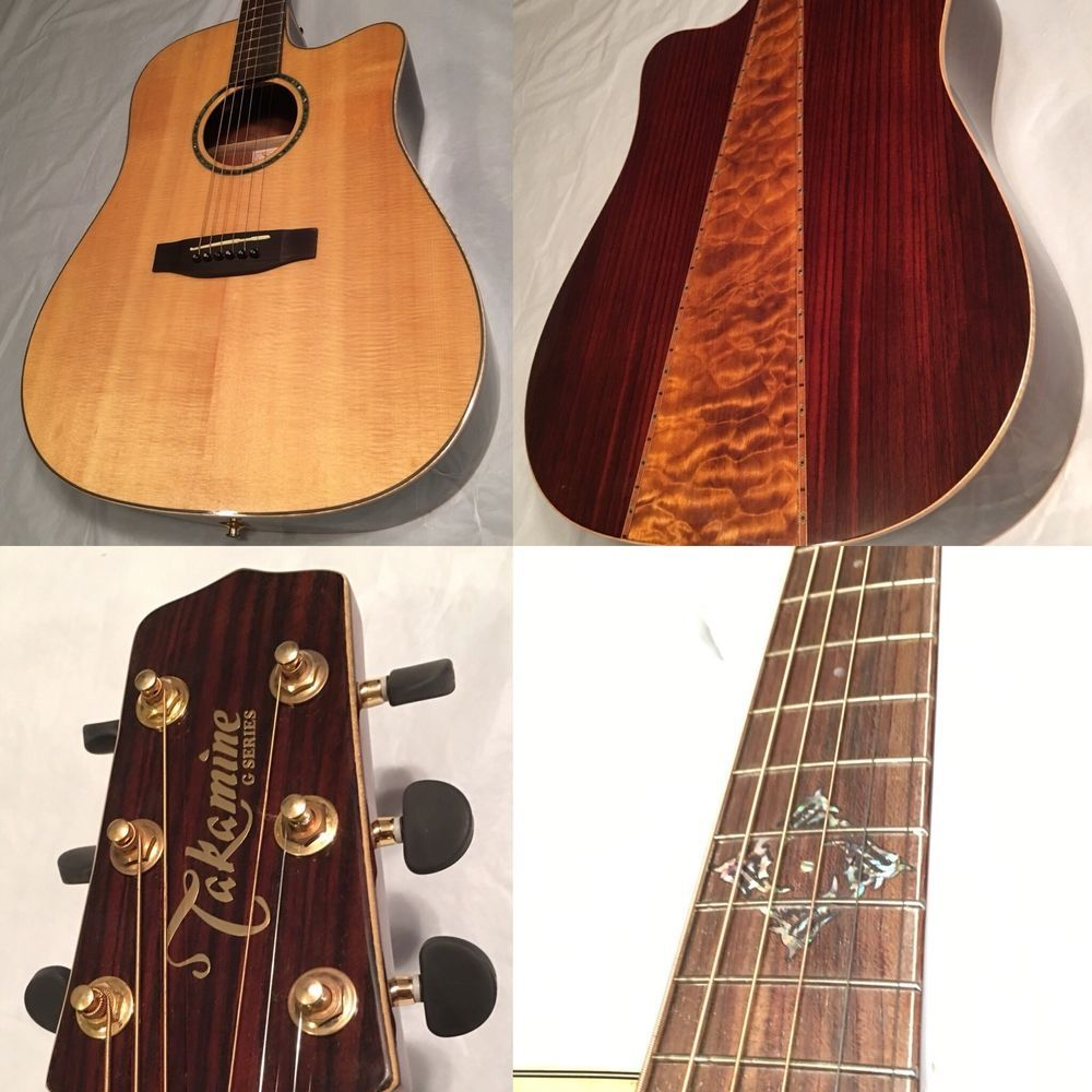 Takamine Eg363sc Acousitc Electric Dreadnought Guitar Quilted Maple Natural Ebay Guitar Acoustic Electric Guitar Electric Guitar For Sale