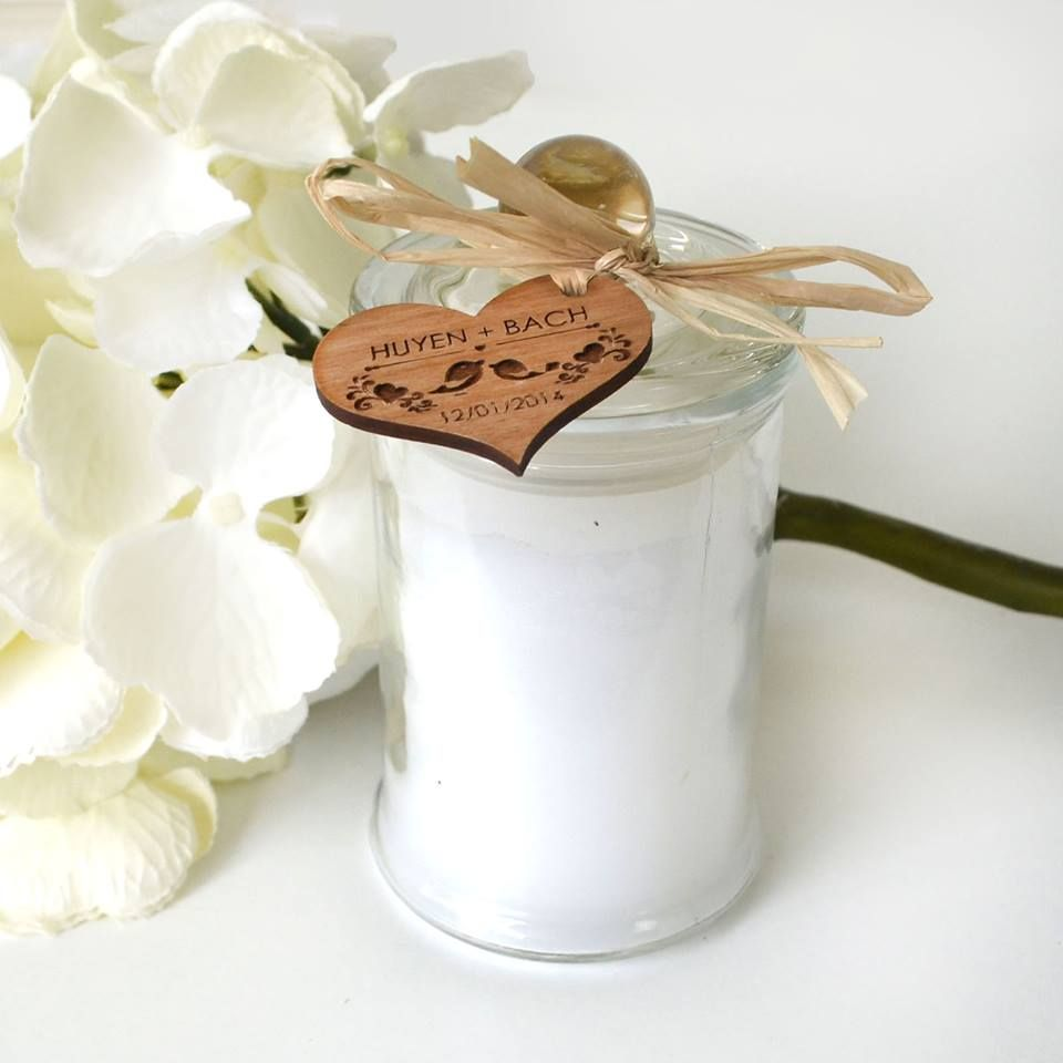 BACK IN STOCK | Jasmine Scented Candles with Wooden or Acrylic Tags <3  PF x