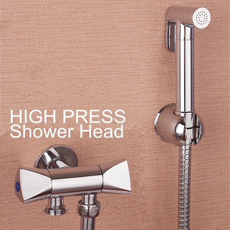 Visit To Buy 100 Brass Women Hand Held Bidet Toilet Jet Cleaner Portable Bidet High Pressure Shower Head Double High Pressure Shower Head Bidet Toilet Bidet