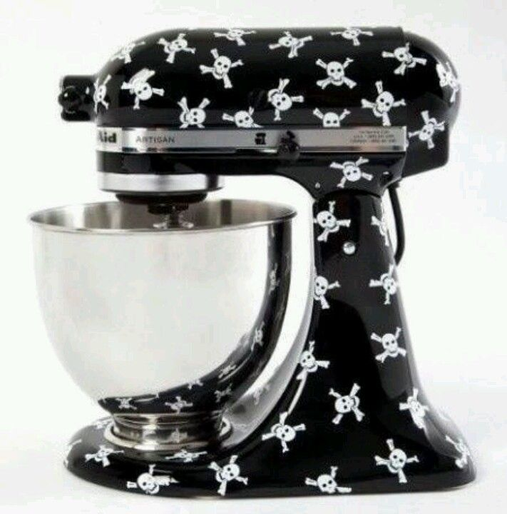 OMG OMG AND THIS ONE TWO ...LOVE....... Skull & Crossbones Kitchenaid Mixer Decals!!!
