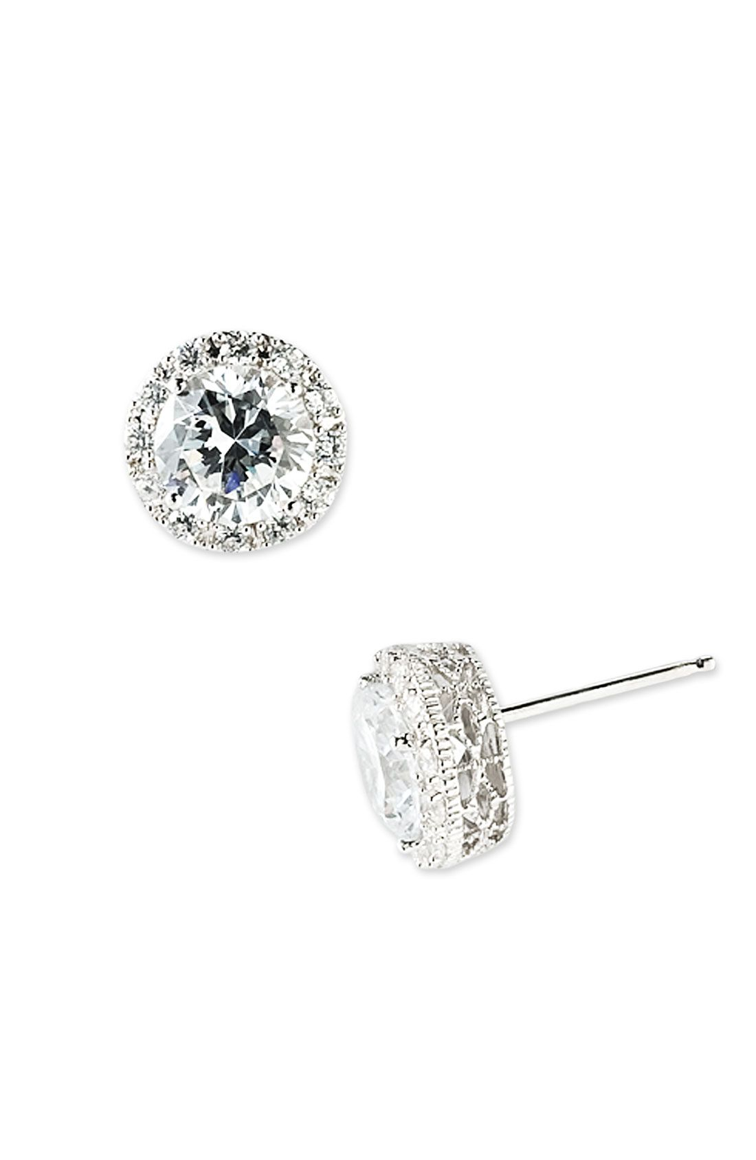 Nordstrom Pave Round Stud Earrings