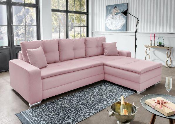 Hochwertig SELF Polsterecke KATE Stoffbezug Flamingo #Sofa #rosa #wohnen #Wohnzimmer # Wohnzimmerideen