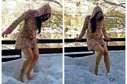 هيا نلعب على الثلج مع هيفاء وهبى فراغ Sweater Dress Fashion Style