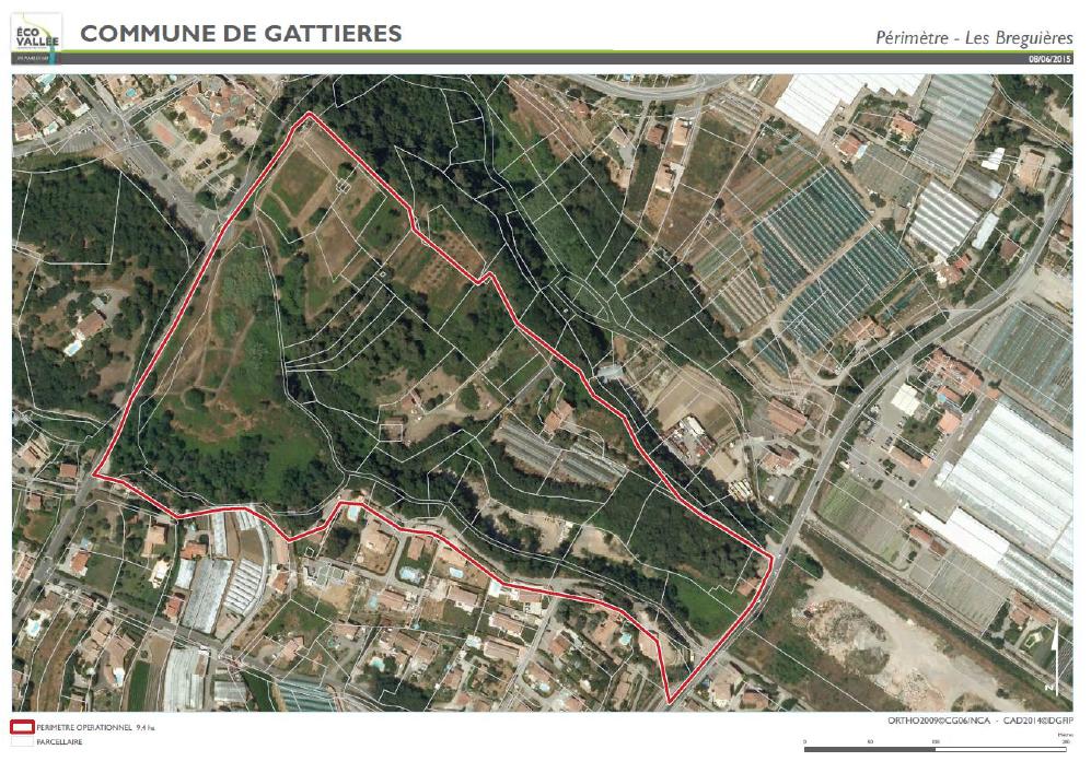 Périmètre Les Breguières - 9.4 ha -Gattières - Eco-Vallée -AM 06 ©EPA20150608