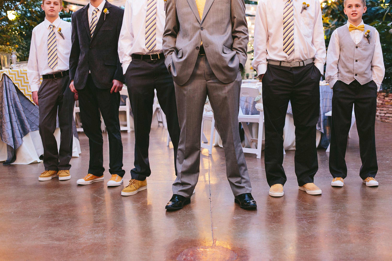 wedding groom and groomsmen. matching