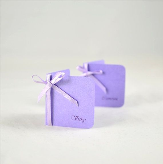 Wedding Place Name Escort Cards Amethyst Purple by PaperWhispers, $20.00