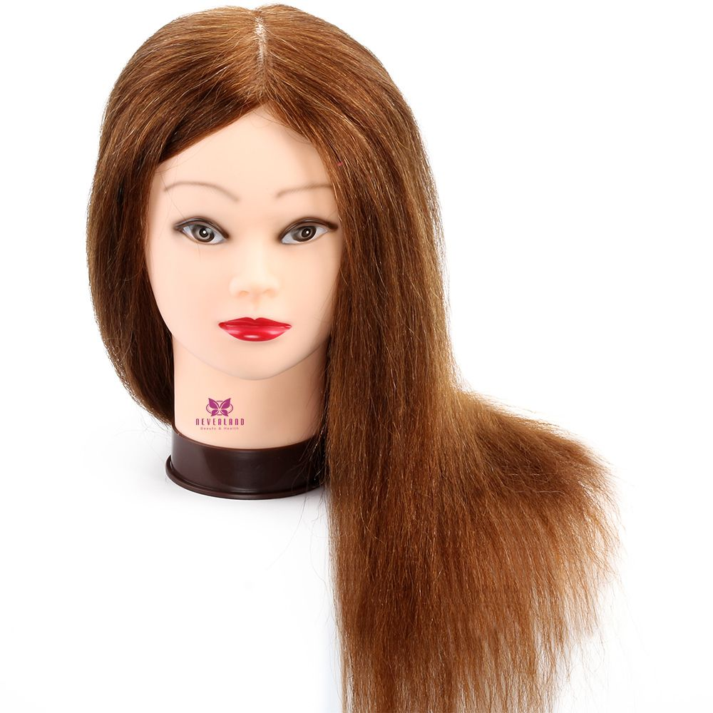 Professional Hairdressing Training Head 100 Real Hair 20 Cosmetology Mannequin Head Manikin Head Hair Styli Real Human Hair Hairdressing Training Human Hair