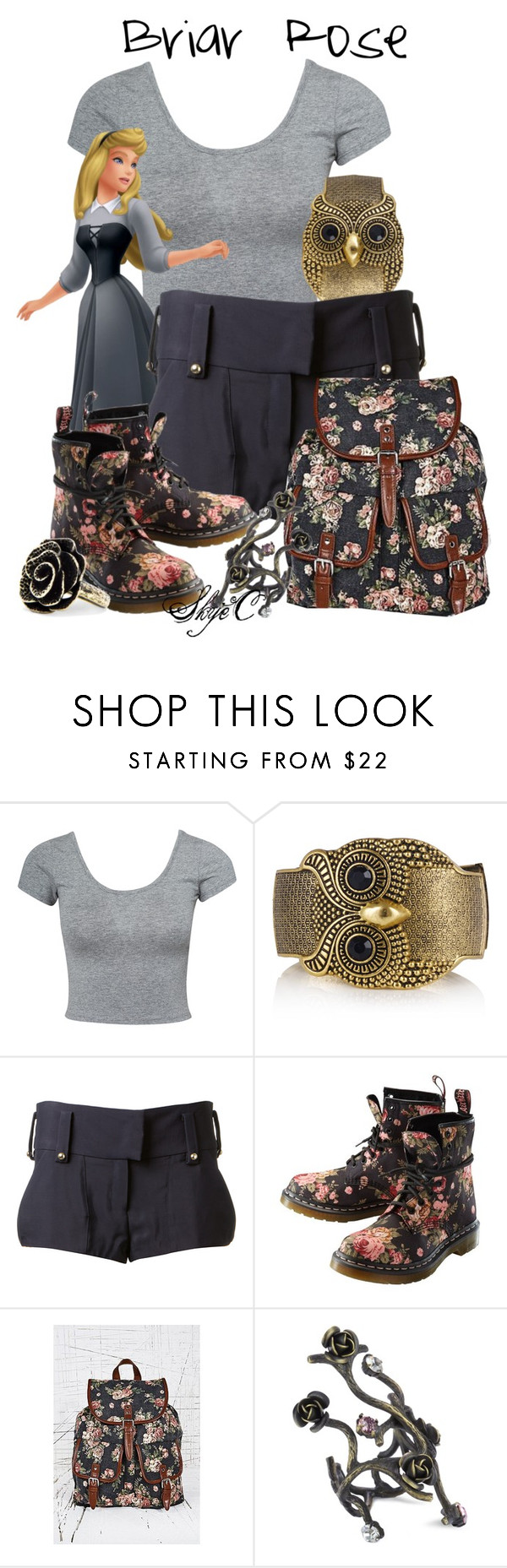 """""""Briar Rose - Spring / Summer - Disney's Sleeping Beauty"""" by rubytyra ❤ liked on Polyvore featuring Estradeur, Anthony Vaccarello, Dr. Martens, Joanna Laura Constantine, MANGO, Summer, Spring, disney, sleepingbeauty and disneybound"""