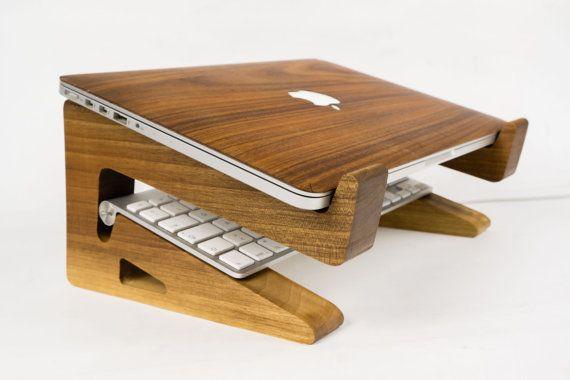 Walnut Wood Laptop StandRiserMacbook Riser en 2019