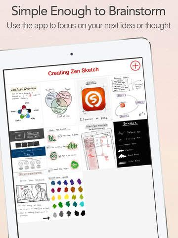 iPad App Zen Sketch - The Art of Drawing and Sketching |  | **** | 4  | $ NOW FREE | Zen Sketch is a cross between a note-taking and a painting app.  We wanted to give people an app with a balance between power
