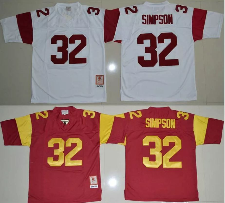 brand new 36949 931f9 Sports Memorabilia: Oj Simpson #32 Usc Trojans College ...