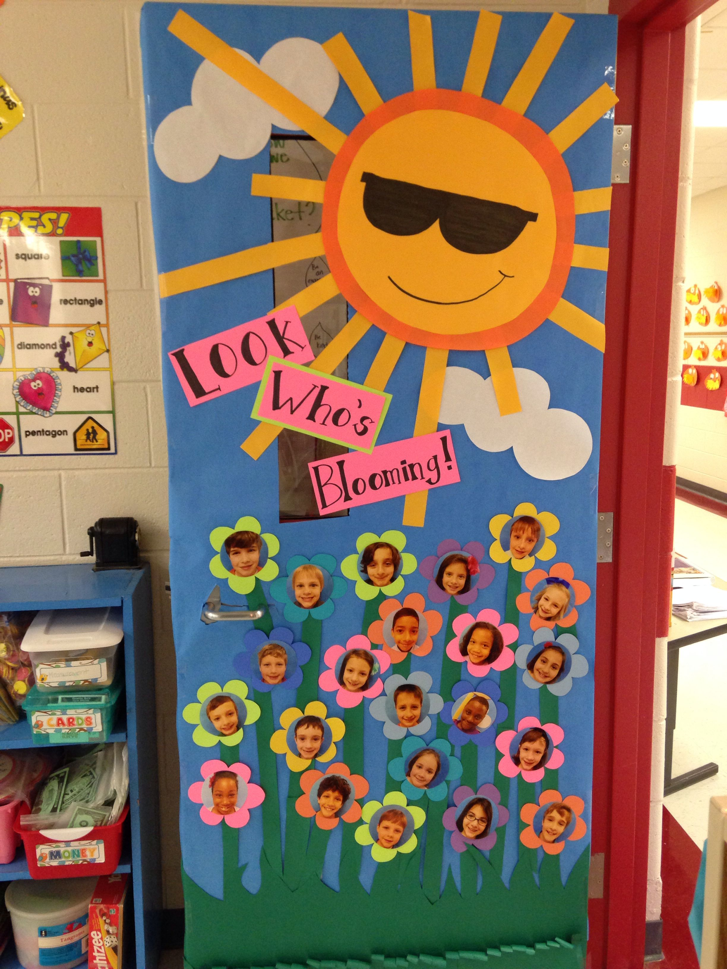 New classroom door decor for spring school stuff for Nursery class door decoration