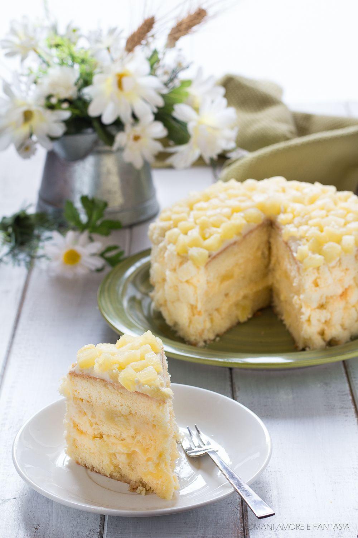 Mimosa Kuchen Mit Ananas Und Ananas Creme Aperitifs Und Aperitif