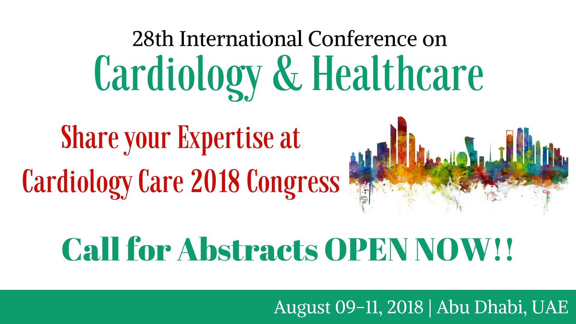 Call for abstracts open now cardiology care 2018 save you